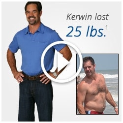 Kerwin lost 25 lbs with Total Gym.