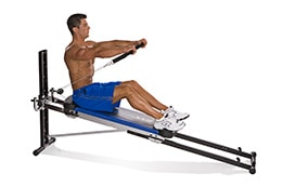 Total Gym front raise exercise