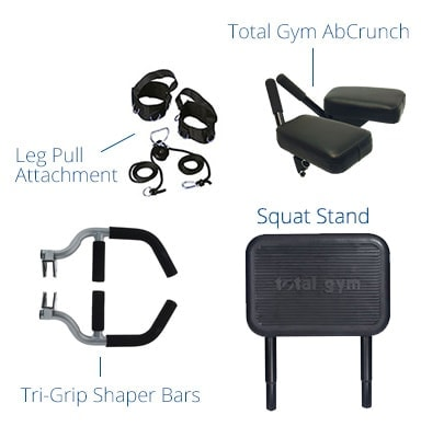 Total Gym supreme attachments and accessories